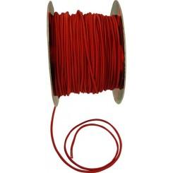 Elastiksnor 6mm, rød.